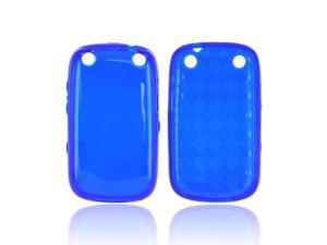 Blackberry Curve 9310 Case, [Blue] Slim & Flexible Anti-shock Crystal Silicone Protective TPU Gel Skin Case Cover