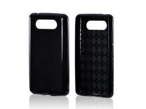 Nokia Lumia 820 Case, [Black] Slim & Flexible Anti-shock Crystal Silicone Protective TPU Gel Skin Case Cover
