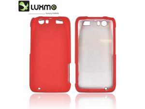 Motorola Atrix HD Case, [Red] Slim & Protective Rubberized Matte Finish Snap-on Hard Polycarbonate Plastic Case Cover