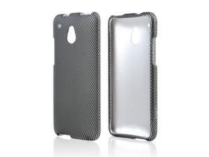 HTC One Mini Case, [Gray] Slim & Protective Rubberized Matte Finish Snap-on Hard Polycarbonate Plastic Case Cover