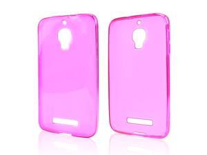 Alcatel One Touch Fierce Case, [Hot Pink] Slim & Flexible Anti-shock Crystal Silicone Protective TPU Gel Skin Case Cover