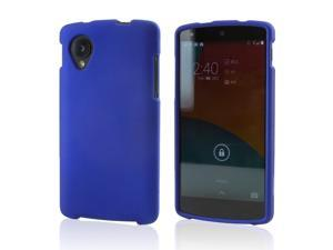 Blue Rubberized Hard Case for LG Google Nexus 5