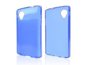 Blue TPU Silicone Skin Case for LG Google Nexus 5