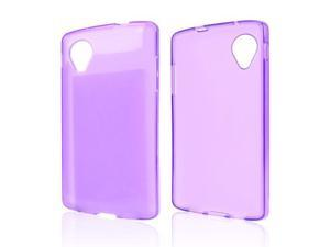 Purple TPU Silicone Skin Case for LG Google Nexus 5