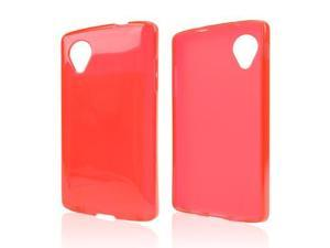 Red TPU Silicone Skin Case for LG Google Nexus 5