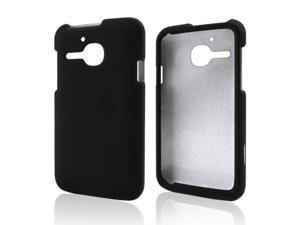 Alcatel One Touch Evolve Case, [Black] Slim & Protective Rubberized Matte Finish Snap-on Hard Polycarbonate Plastic Case