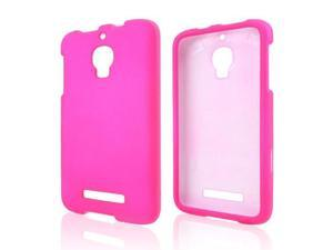 Alcatel One Touch Fierce Case, [Hot Pink] Slim & Protective Rubberized Matte Finish Snap-on Hard Polycarbonate Plastic