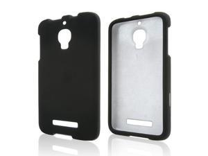 Alcatel One Touch Fierce Case, [Black] Slim & Protective Rubberized Matte Finish Snap-on Hard Polycarbonate Plastic Case