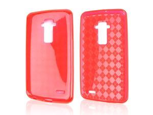 Red Argyle Crystal Silicone Skin Case for LG G Flex