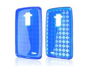 Blue Argyle Crystal Silicone Skin Case for LG G Flex