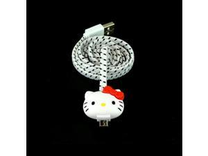 Hello Kitty White Universal Micro USB Charge & Sync Data Cable