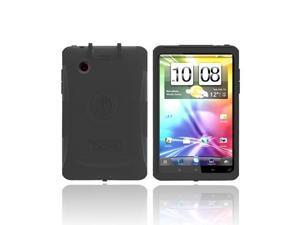 Original Trident Aegis HTC EVO View 4G/ HTC Flyer Hard Cover on Silicone Case w/ Screen Protector & Detachable Stylus Mount  AG-FLYER-BK - Black