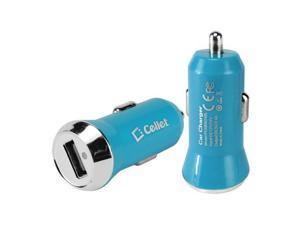 Universal Cellet Blue Rapid Mini USB Car Charger (2400 mAh) - 800768679292