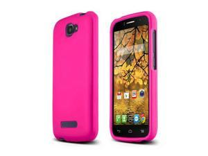 Alcatel One Touch Fierce 2 Case, [Hot Pink] Slim & Protective Rubberized Matte Finish Snap-on Hard Polycarbonate Plastic