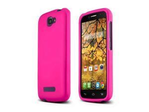 Alcatel Hot Pink Rubberized Hard Case for Alcatel One Touch Fierce 2 - FCR-ALOTF2HP