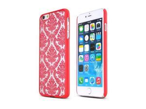 Red Lace Design Polycarbonate Slim Rubberized Hard Case for Apple iPhone 6 Plus - 885926191755
