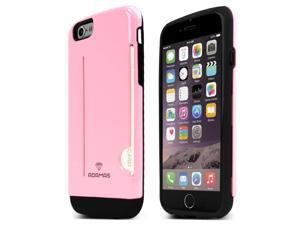 iPhone 6 Case, Adamas Series [Pink] Slim Card Bumper Form-Fitting Hard Plastic Protective Case Cover