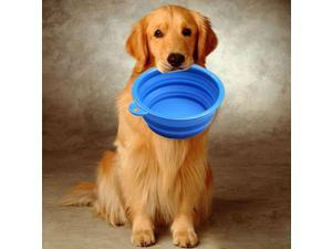 Portable Silicone Collapsible Pet Feeding Bowl [Blue]