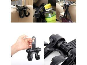 Multifunction Car Seat Hook  Double Vehicle Seat Back Car Hanger Hook [Black]