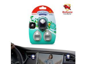 Car Air Freshener  [Herb] Bullsone Pola Family Refillable Vent Clip Pengu