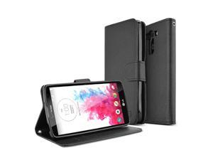G Vista Case, REDShield Wallet G Vista Case [Stand Feature][Black] Premium Functional Front Cover Wallet Case for LG G