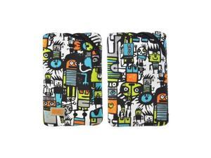 OEM Built Amazon Kindle Fire/ Google Nexus 7/ Nexus 7 2 Twist Top Neoprene Sleeve Case  E-TWKF1-RUG - Orange/ White