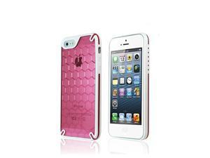 Ozone Bee Hive Protective Case for iPhone 5 - White / Pink