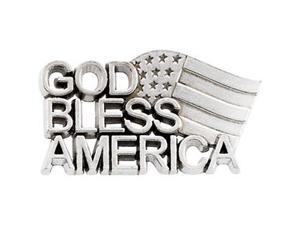 God Bless America Lapel Pin in 14k Yellow Gold