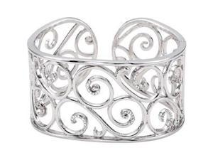 Diamond Bangle Bracelet in Sterling Silver (0.5 Ct. tw.) (0.5 Ct. tw.)