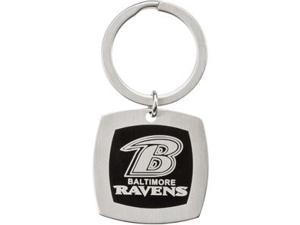 Baltimore Ravens Logo Keychain in Stainless Steel
