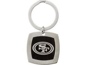 San Francisco 49Ers Logo Keychain in Stainless Steel