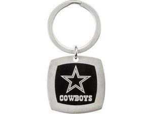 Dallas Cowboys Logo Keychain in Stainless Steel
