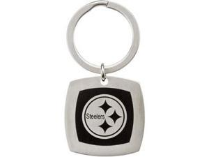 Pittsburgh Steelers Logo Keychain in Stainless Steel