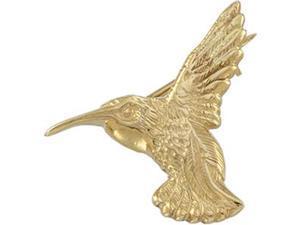 Hummingbird Brooch in 14k Yellow Gold