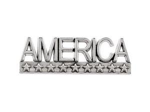 America Lapel Pin in 14k Yellow Gold