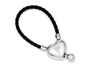 Heart Keychain in Sterling Silver