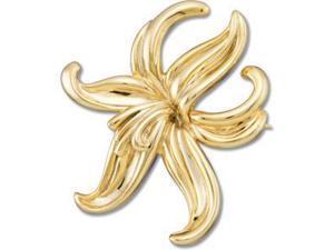 Flower Brooch in 14k Yellow Gold