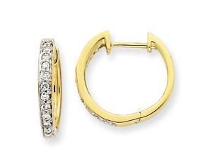 Diamond Hoop Earrings in 14k Yellow Gold (0.25 Ct. tw.) (0.25 Ct. tw.)