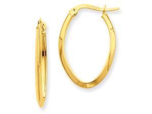 Oval Hoop Earrings in 14k Yellow Gold
