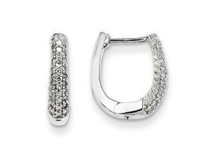 Diamond Hinged Hoop Earrings in 14k White Gold