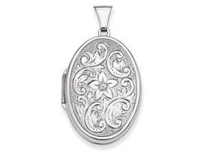Oval Locket in Sterling Silver