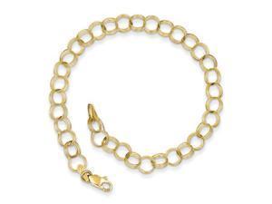 Triple Link Charm Bracelet in 10k Yellow Gold