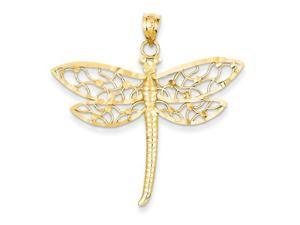 Diamond Cut Dragonfly in 14k Yellow Gold