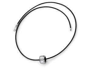 Leather Cord Necklace in Tungsten
