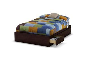 South Shore Willow Collection Full size Mates Bed - Havana