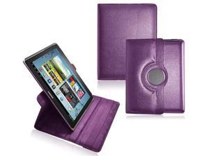 CrazyOnDigital Stand Leather Case For Samsung Galaxy Note 10.1 N8000 N8010 N8013 Tablet -Purple