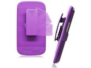 CrazyOnDigital TRAVELER Protective Case for Samsung Galaxy S III S 3 AT&T, T-Mobile, Sprint, Verizon (Purple)