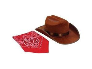 Jr. Cowboy Hat (Brown) with Bandanna