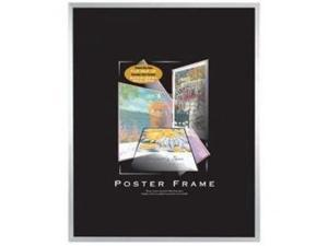 Silver plastic POSTER size frame with Masonite Backing - 18x24