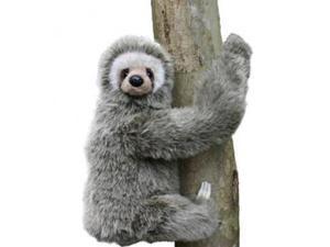 Hansa Three-Toed Sloth Stuffed Plush Animal, Sitting